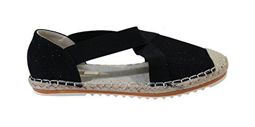 Shoes Nero Espadrillas By Donna Basse ORdnCwgU