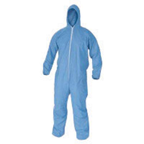 Kimberly-Clark Professional 3X Blue KleenGuard A65 Flame Resistant Treated Cellulosic And Polyester Spunlace Disposable Flame Resistant Bib Overalls/Coveralls-1 Each