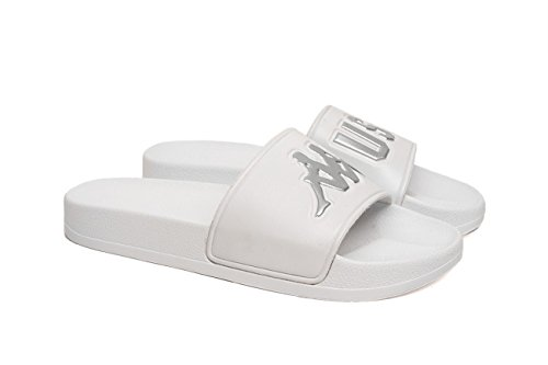 Kappa Kontroll Ciabatta Unisex Bianco Logo argento Silver EU44