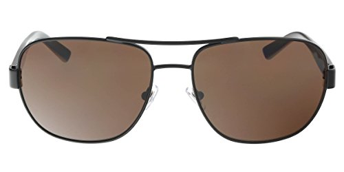 DKNY Men's DY5079 Aviator Sunglasses, Matte Black & Brown, 59 - Dkny Sunglasses Sale