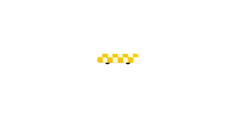 Sunflower Yellow White Squares Pull (Set of 10) (Aluminum)
