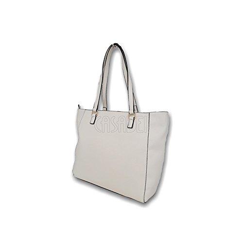 Handbags Vbs2kv01 Oblo Valentino Manici Sintetica Donna avorio 2 Borsa Tf0fB
