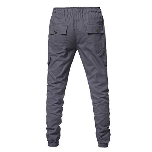 Bellelove Automne Pantalon Gris Sport Pour Cravate Poches Camouflage Cordon Casual Pantalons Garçon Survêtement Mode Homme Ceintures Legging De Amples Homme À cWcr4R