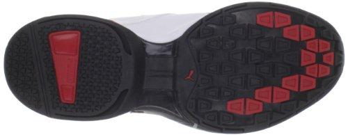 886375633292 - PUMA Men's Tazon 5 Cross-Training Shoe,White/Black/Ribbon Red,10 D US carousel main 2