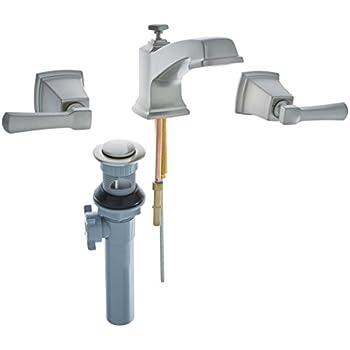 Moen 84820SRN Double Handle Widespread Bathroom Faucet from the ...