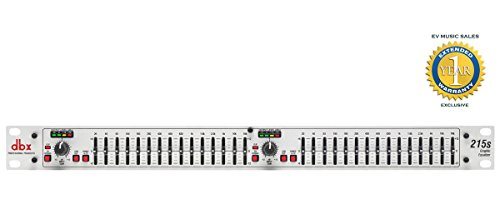 dbx 215s Dual Channel 15-Band Equalizer with 1 Year Free Extended Warranty by DBX