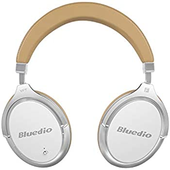 8e236e8490f Bluedio Bluetooth Headphones Over Ear, Active Noise Cancelling Over-Ear  Headphones F2 Wireless Bluetooth Headsets with Mic (White)