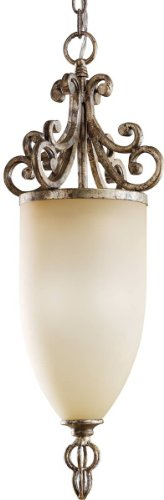 - Kichler Lighting 3256BSG 2 Light Venezia Mini Pendant, Burnished Silver & Gold