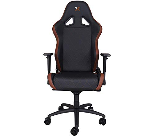 By Rаpidx Office Home Furniture Premium XL Brown on Black Gaming and Lifestyle Chair ()