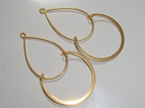 - Bulk 6 pcs, 24K Vermeil Modern Double Loops Findings, Chandelier, Pendant, Earring Findings, CC-0001