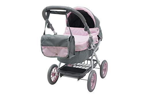 Kookamunga Deluxe Bassinet Doll Pram with Changing Bag