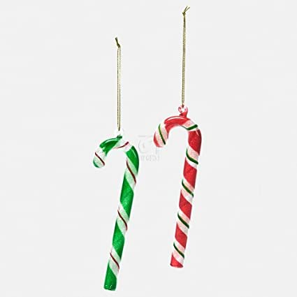 glass striped candy cane santa sweet shop collection ho - Candy Cane Christmas Shop