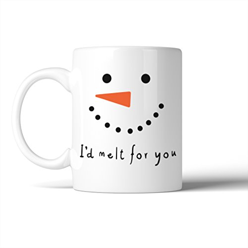 365 Printing I'd Melt For You Mug Snowman Face Mugs Cute Christmas Gift -