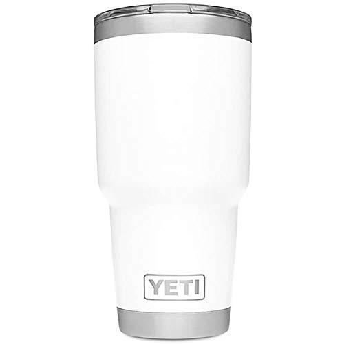 YETI Rambler 30 oz Stainless Steel Vacuum Insulated Tumbler w/MagSlider Lid, White (No Mug White Handle)