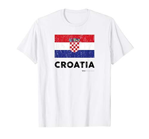 Vintage Croatia Flag T-Shirt ()