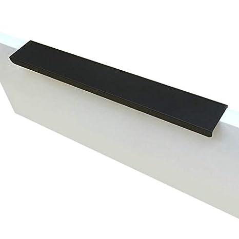 Nrpfell Fashion Black Hidden Cabinet Handles Zinc Alloy Kitchen