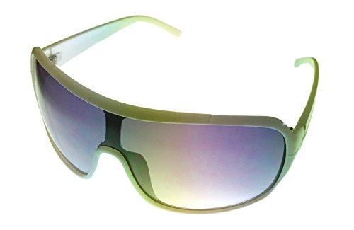 (Perry Ellis Sunglasses Unisex White Plastic Shield, Smoke Gradient Lens PE11)