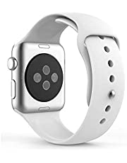 Silicone Band Strap for for Apple Watch iWatch 44mm, White