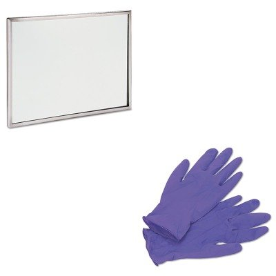 KITKIM55082SEEFR1824 - Value Kit - See-All Industries Wall/Lavatory Mirror (SEEFR1824) and KIMBERLY CLARK PURPLE NITRILE Exam Gloves (KIM55082) by SeeAll