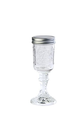 Toland Home Garden 340012 Mason Jar Wine Glass, 1 Pint, Clear]()