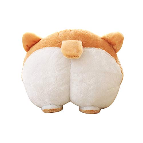 - ANJUU Pets Puppy Cute Corgi Butt Throw Pillow Neck Support Pillow Cushion Travel Pillows Animals Stuffed Toy Gifts(36x36cm)