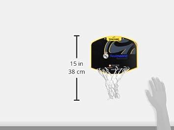 Unisex Minicanasta Talla /Única Negro 77-615Z Spalding Real Madrid