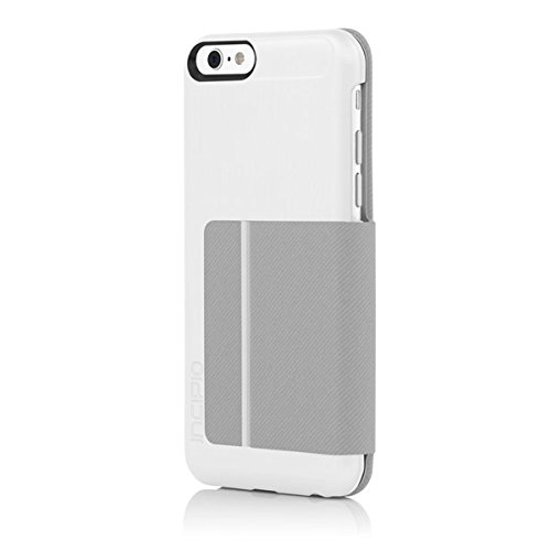 size 40 9db16 c0ce8 iPhone 6S Case, Incipio Highland Premium Folio [Credit Card Case] Wallet  Folio fits both iPhone 6, iPhone 6S - White/Gray
