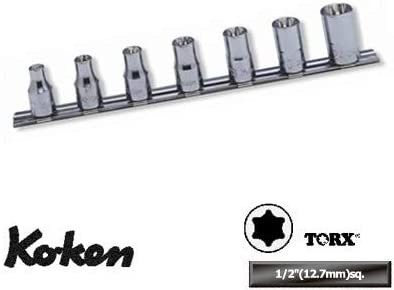 コーケン 1/2(12.7mm)SQ. トルクスソケットレールセット 7ヶ組 RS4425/7