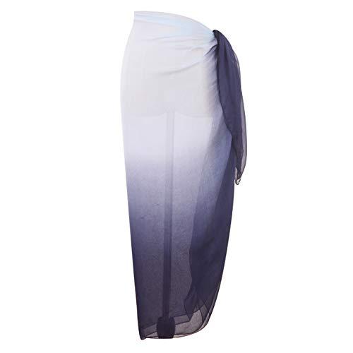 Yoimira Womens Chiffon Sarong Beach Swimwear Pareo Plus Size Cover Ups Light Bathing Suit Wrap (9)