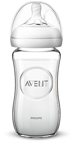 Philips Avent Natural Glass Baby Bottle, 8oz, 1pk, SCF703/17 ()