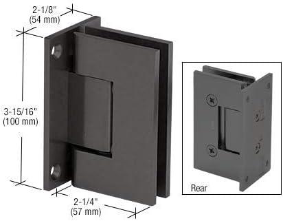 CRL V1E037MBL Matte Black Vienna 037 Series Wall Mount Hinge