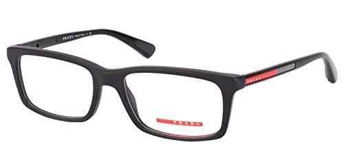 Prada Prescription Glasses Frames - Prada PS02CV 1AB1O1 Men's Eyeglasses, Black,