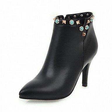 RTRY Zapatos De Mujer De Piel Sintética Pu Novedad Moda Otoño Invierno Confort Botas Botas Stiletto Talón Señaló Toe Botines/Botines De Remache US10.5 / EU42 / UK8.5 / CN43
