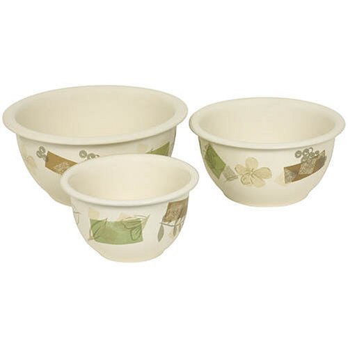 Corelle Coordinates 3-Piece Bake-and-Serve Set, Textured Leaves (Ceramic Casserole Corelle)