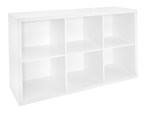 ClosetMaid 1109 Decorative 6-Cube Storage Organizer, White (Closetmaid Organizers)