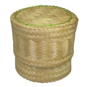 Thai Handmade Sticky Rice Serving Basket Medium Size 6.6x3.5x5'' (Pack of 2) by YO-SHOP