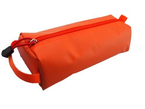 Rough Enough Rubberized Pencil Pouch, Orange