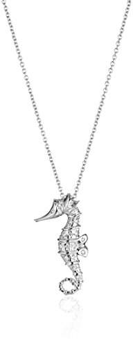 Roberto Coin 18k White Diamond Accent Seahorse Tiny Treasure Necklace (18k Roberto / Coin Diamond Necklace)