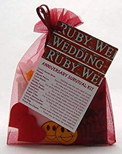 Cleverlittlegifts 40th Ruby Wedding Anniversary Survival Kit