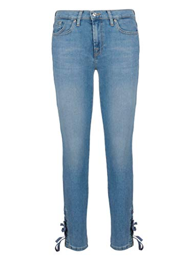 7 cuero de azul Jeans Woman Mankind For claro Jsvur98cf All rp0wArqB
