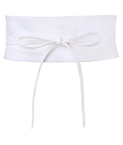 (14987-WHT-OS: KRISP One Size PU Waist Belt, White, One Size)
