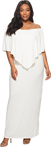 KARI LYN Women's Plus Size Ayden Dress White 2X