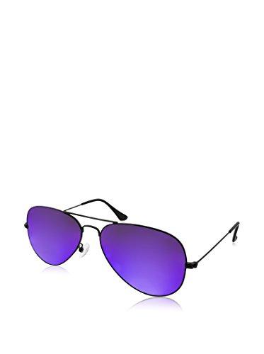 AQS Unisex Oliver Mirrored Aviator Sunglasses (Black, - Aqs Sunglasses