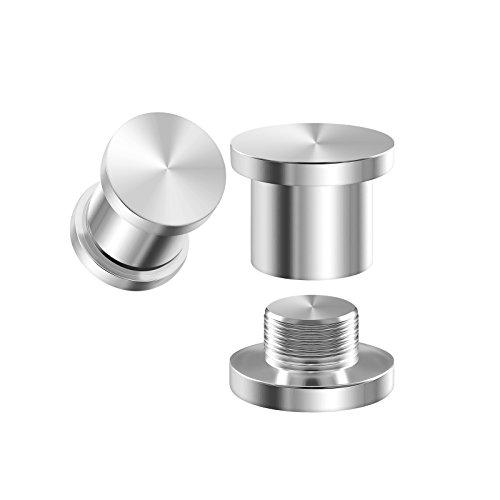 (BIG GAUGES Pair 316L Surgical Steel 2gauges 6 mm Tunnels Internally Threaded Piercing Jewelry Stretcher Ear Ring Lobe Plugs BG1055)