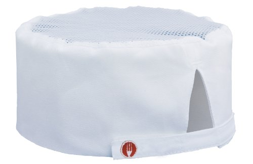 Chef Works Unisex Cool Vent Chef Beanie, White One Size -