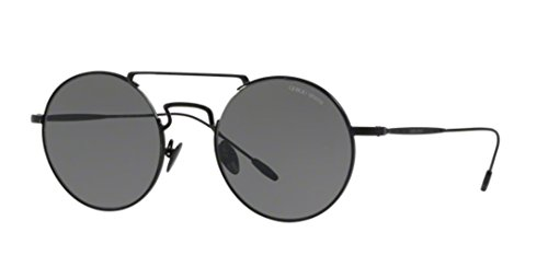 Giorgio Armani Mens Sunglasses Black Matte/Grey Steel - Non-Polarized - 51mm