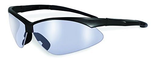 SSP Eyewear Safety Glasses with Black Frames and Clear Anti-Fog Shatterproof Lenses, SNOQUALMIE BLK CL ()
