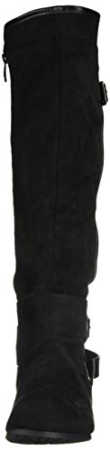 DREAM PAIRS Women's Akris Knee High Boot Black Wide Calf