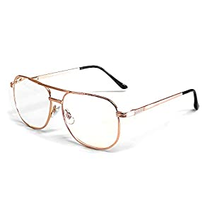 Calabria 1106 Metal Aviator Reading Glasses in Gold ; +1.50