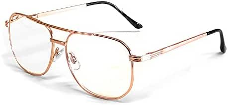 Calabria 1106 Metal Aviator Reading Glasses in Gun-Metal or Gold